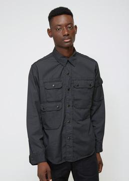 Engineered Garments Black Ripstop CPO Shirt