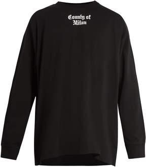 Marcelo Burlon County of Milan Flags-print long-sleeved cotton T-shirt