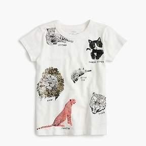 J.Crew Girls' cats T-shirt