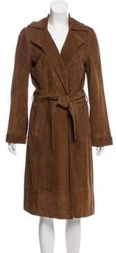 Rene Lezard Longline Suede Coat