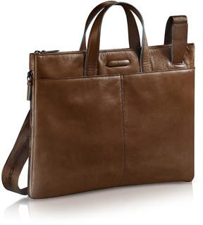 Piquadro Blue Square - Expandable Leather Business Bag
