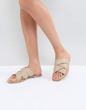Sol Sana Nora Ecru Leather Slides