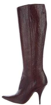 Christian Dior Pointed-Toe Knee-High Boots