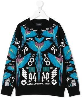 Marcelo Burlon County of Milan Kids macaw print sweatshirt