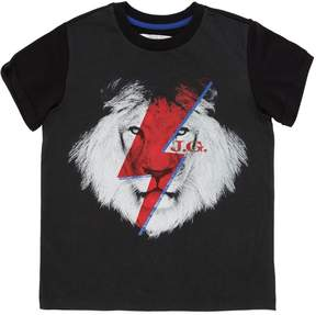 John Galliano Lion Printed Cotton Jersey T-Shirt
