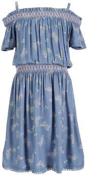 Jessica Simpson Big Girls 7-16 Bjork Butterfly-Print Dress