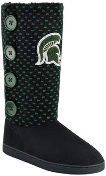 NCAA Women's Michigan State Spartans Button Boots
