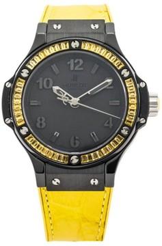 Hublot Big Bang Tutti Frutti Black Lemon Black Ceramic Bezel Yellow Sapphires Mens Watch