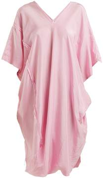 DAY Birger et Mikkelsen BY WALID Lino V-neck draped raw-silk dress