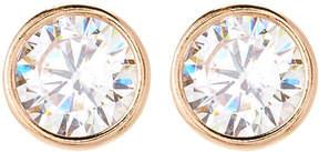 Crislu 18K Gold Sterling Silver Round-Shaped Stud Earrings