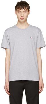 Ami Alexandre Mattiussi Grey Crewneck Logo T-Shirt