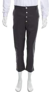 Kris Van Assche Flat Front Straight-Leg Pants