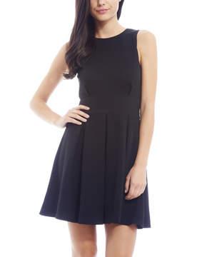 AX Paris Black Pleated Skater Dress - Women