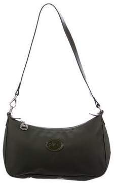 Longchamp Leather-Trimmed Shoulder Bag - GREEN - STYLE