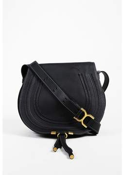 Chloé Pre-owned Black Pebbled Calfskin medium Marcie Shoulder Bag.