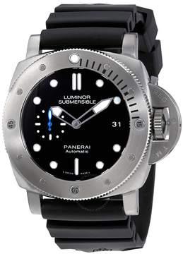Panerai Luminor Submersible 1950 Black Dial Automatic Men's Rubber Watch