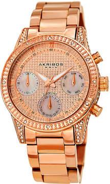 Akribos XXIV Diamond Rose Gold Dial Men's Watch