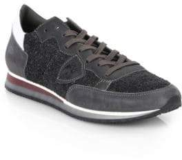 Philippe Model Leather Lace-Up Low-Top Sneakers
