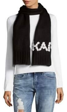 Karl Lagerfeld Logo Scarf