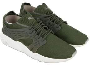 Puma Blaze Cage Evoknit Olive Night FalconWhite Mens Athletic Training Shoes