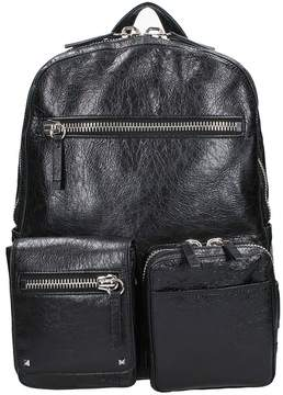 Valentino V Punk Black Leather Backpack