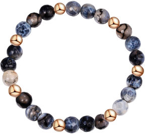 Footnotes Womens Gray Stretch Bracelet