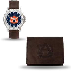 Rico NCAA Team Logo Watch and Wallet Combo Gift Set in Brown - Auburn
