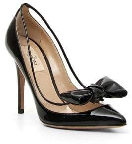 Valentino Dollybow Leather Pumps