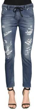 Diesel Relaxed Boyfriend Destroyed Denim Jeans
