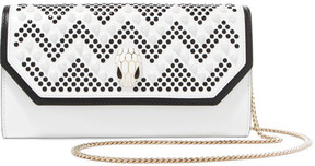 BVLGARI - Nicholas Kirkwood Embellished Leather Shoulder Bag - White