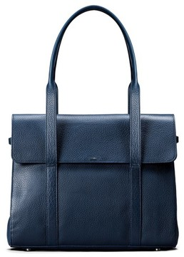 Shinola Calfskin Leather Satchel - Blue