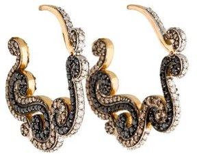 Amrapali 18K Diamond Scroll Hoop Earrings