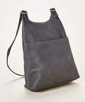 Le Donne Gray Leather Sling Backpack