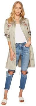 J.o.a. Long Bomber Jacket Women's Coat