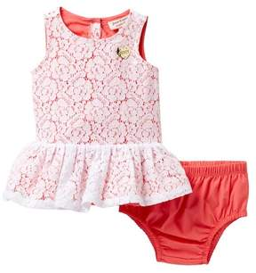 Juicy Couture Floral Crochet Lace Dress & Diaper Cover Set (Baby Girls 3-9M)