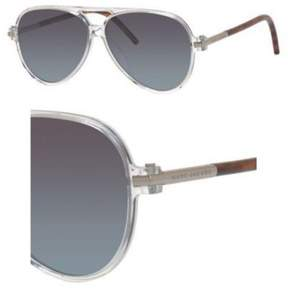 Marc Jacobs MARC44S AviatorSunglasses, Crystal Gray Petrol Silver, 56 mm