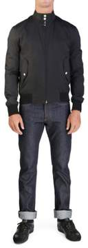 Christian Dior Men's Blouson Harrington Zip Jacket Black Houndstooth