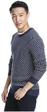 Joe Fresh Men's Tuck Stitch Sweater, JF Midnight Blue (Size S)