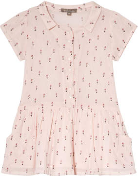 Emile et Ida Rose Floral Crepe Dress