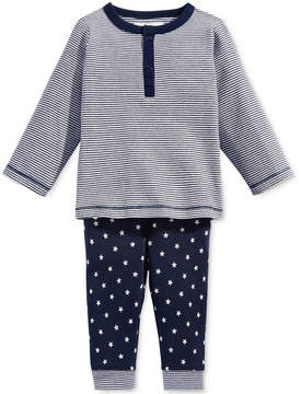 First Impressions 2-Pc. Striped Top & Star-Print Pants Set, Baby Boys (0-24 months), Created for Macy's