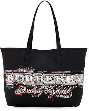Burberry Logo Sketchbook Series Medium Tote Bag, Black Pattern - BLACK PATTERN - STYLE