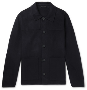 Ami Wool And Cashmere-Blend Jacket