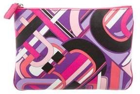 Emilio Pucci Printed Zip Clutch