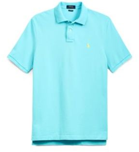 Ralph Lauren Custom Slim Fit Mesh Polo True Aqua M