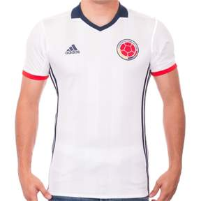 adidas Men National Team Colombia Home Soccer Jersey - S - White