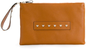 Red Valentino studded handle clutch