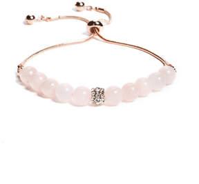 GUESS Rose Quartz Bead Bracelet