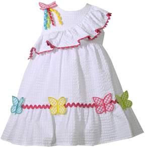 Bonnie Jean Baby Girl Butterfly Seersucker Dress