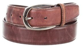 Brioni Distressed Leather Belt