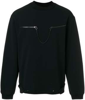 Oamc zip chain sweatshirt